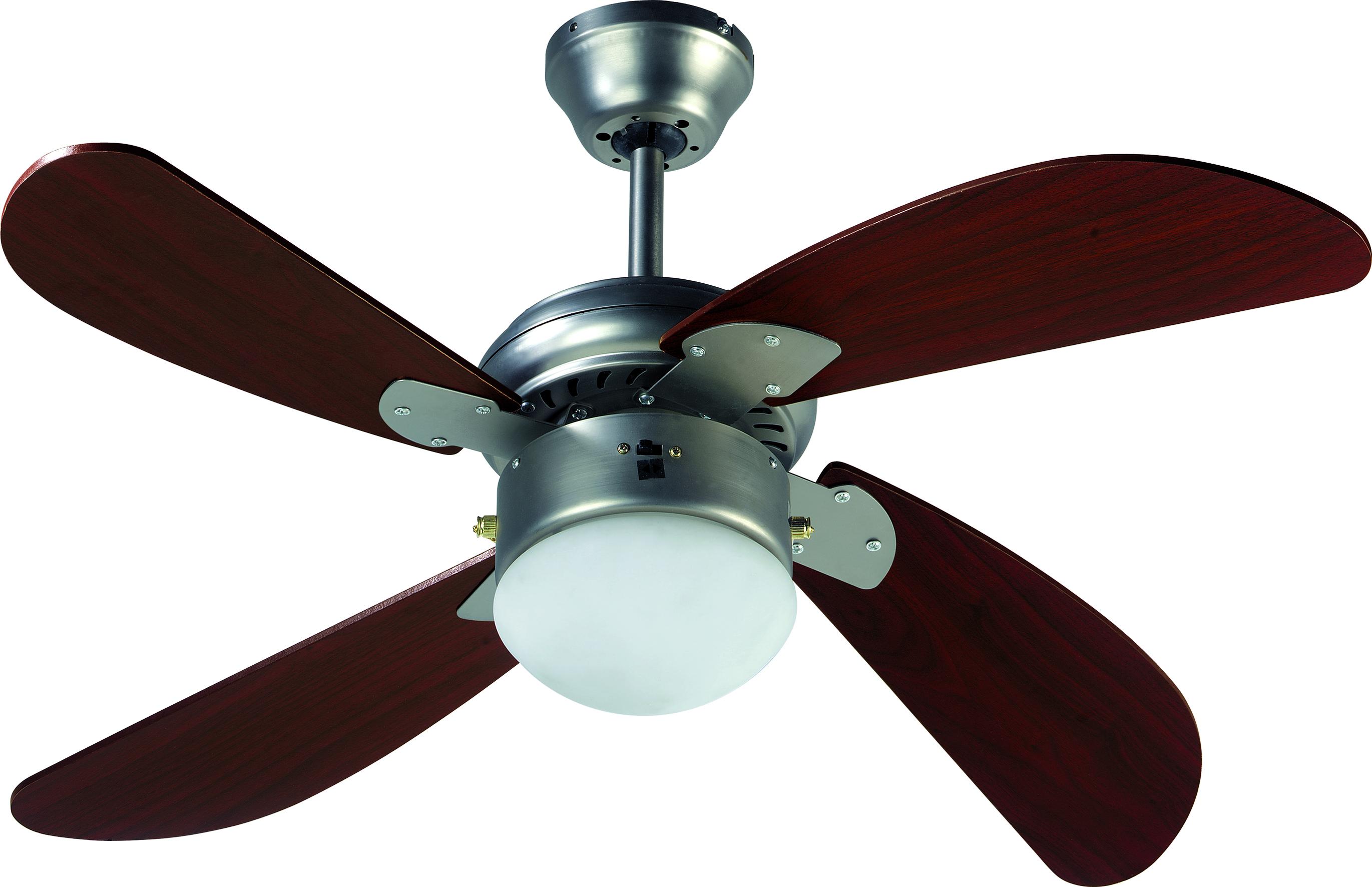 Ventilateur luminaire de plafond hawai acajou farelek - Ventilateur de plafond sans luminaire ...
