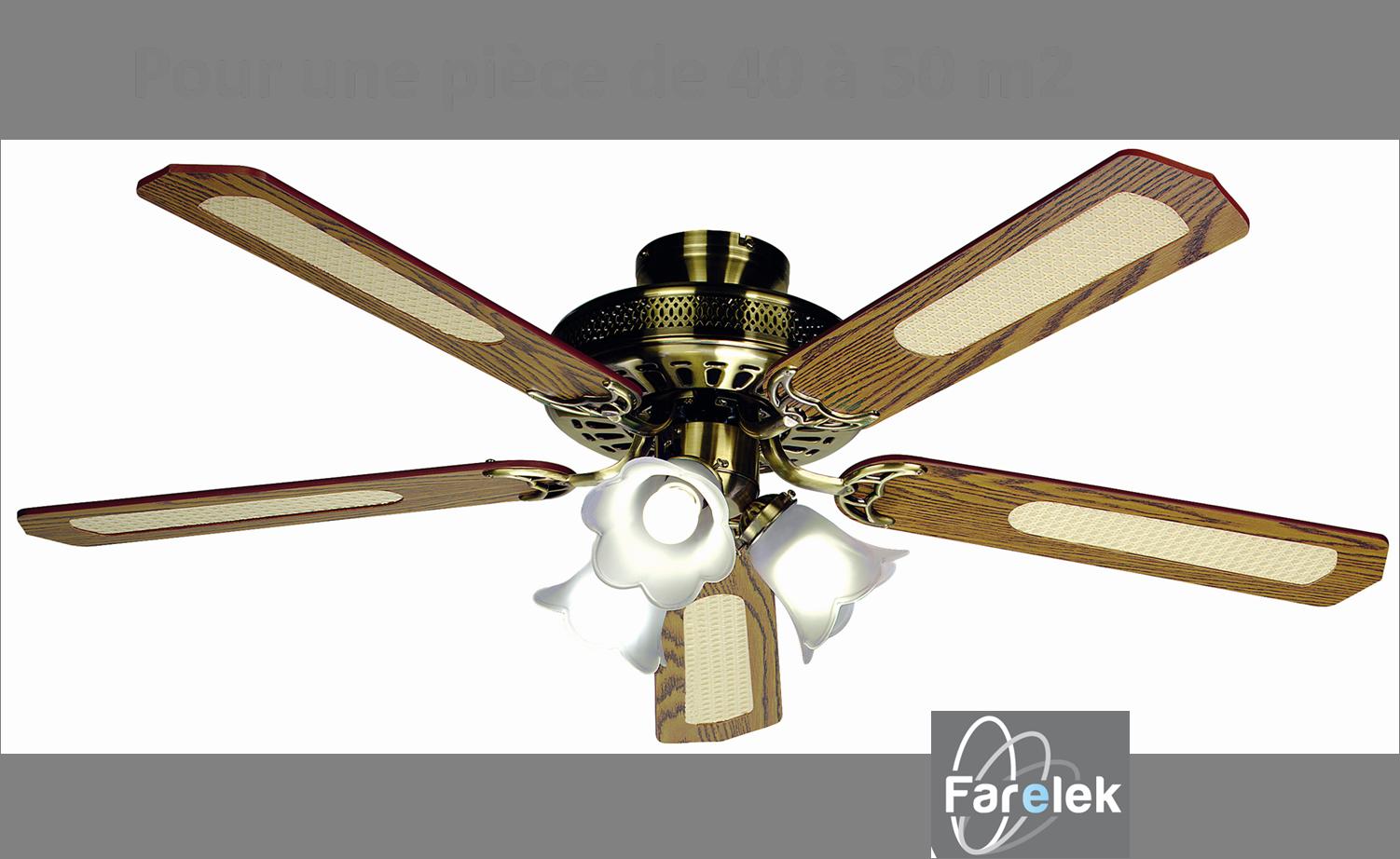 Ventilateur luminaire de plafond bal ares noyer farelek - Comment rafraichir une piece avec un ventilateur ...