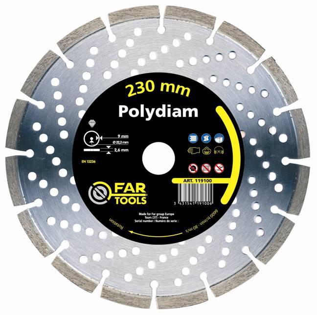 disque diamant polydiam diam 230 mm 119100 fartools. Black Bedroom Furniture Sets. Home Design Ideas