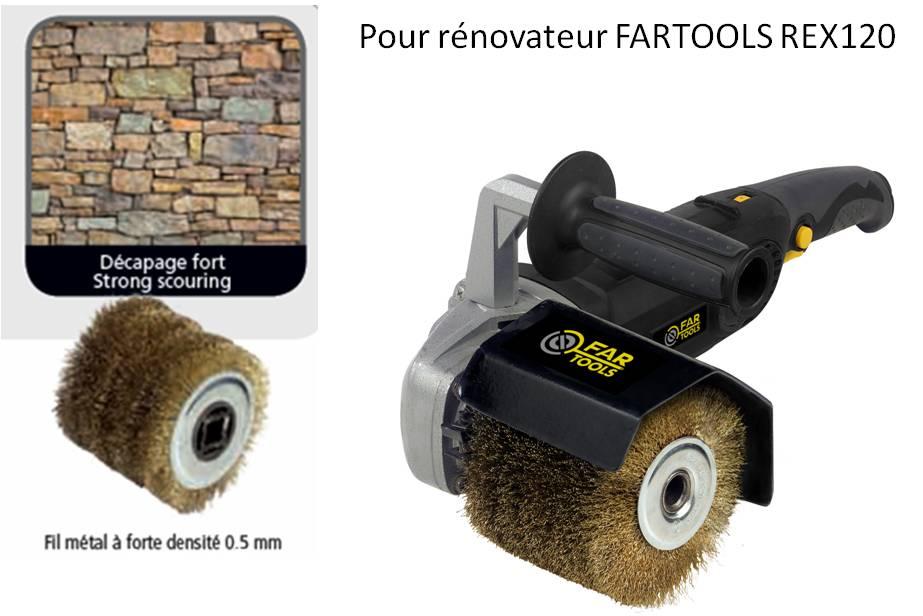 Brosse m tal pour gamme rex fartools ilya2too - Produit pour decaper le bois ...