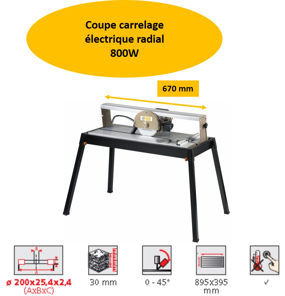 Coupe carrelage radial lectrique tcr 725 800w diam tre 200mm fartools one ilya2too - Coupe carrelage electrique radial ...