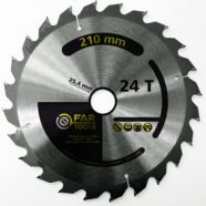 Lame 24 dents d 210mm al 25.4 pour scie FARTOOLS