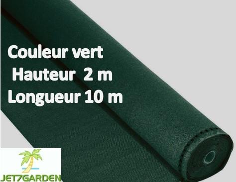 Brise vue en toile pour balcons couleur vert 2m x 10m ilya2too for Cloture de jardin en toile