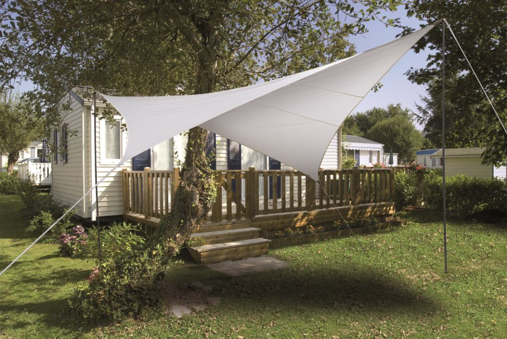 voile ombrage carr e 3 6 m tres imperm abilis blanc ilya2too. Black Bedroom Furniture Sets. Home Design Ideas