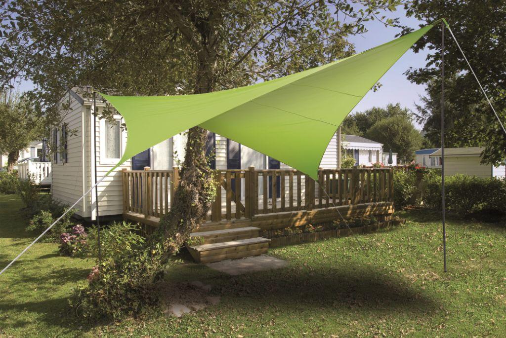 voile ombrage carr e 500x500 cm imperm abilis vert anis. Black Bedroom Furniture Sets. Home Design Ideas